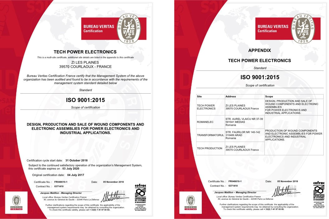 iso 9001 version 2015 - Tech Power Electronics